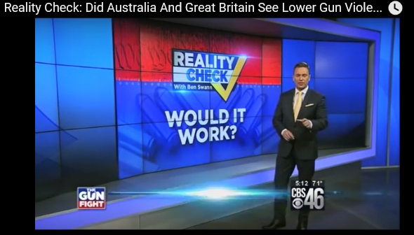 http://www.guns.com/2015/11/17/reality-check-on-gun-control-in-australia-and-britain-video/ Investigative reporter Ben Swann with CBS46 in Atlanta takes a closer look at the familiar trope of the success or failure of gun control overseas. One of the most familiar arguments on both sides of the gun issue is the effect of strict policy changes on the regulation of firearms in fellow English-speaking countries […]