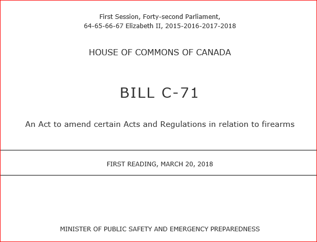 House of Commons Petition e-1605 Initiated by Dennis R Young from Airdrie, Alberta, on March 28, 2018, at 10:04 a.m. (EDT) Sponsored by Pierre Paul-Hus, Charlesbourg—Haute-Saint-Charles, Quebec – Conservative – Official Opposition Critic for Public Safety. FULL TEXT: https://petitions.ourcommons.ca/en/Petition/Details?Petition=e-1605 WE, THE UNDERSIGNED, CITIZENS OF CANADA, call upon the House of Commons in Parliament assembled to […]