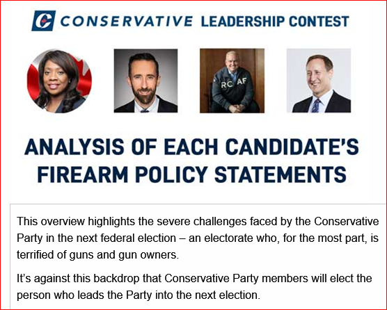 ANALYSIS OF CPC LEADERSHIP CANDIDATE'S FIREARM POLICY STATEMENTS