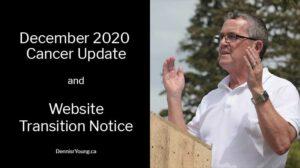 December 2020 Cancer Update and Website Transition Notice