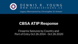 CBSA Firearms Seizures by Country and Port of Entry Oct 26 2014 - Oct 26 2020