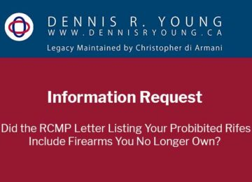 Info Request: RCMP Registration Nullification Letter