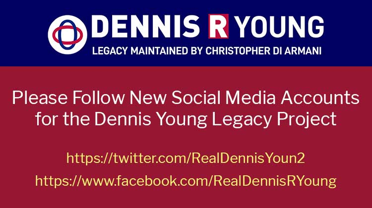 Please Follow New Social Media Accounts for the Dennis R. Young Legacy Project