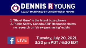 Dennis Young Legacy Project for July 20, 2021