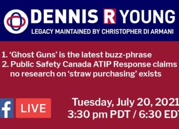 FB Live Update: The Rise of Ghost Guns; Public Safety says no research exists to back up Minister Blair's statements